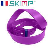 ラバーベルト  ゴルフ メンズ 乗馬 ゴム ロングサイズ SKIMP  メンズ 紫
