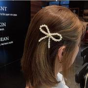ヘアアクセサリー 髪留め ヘアピン 韓国 ファッション リボン 蝶結び 可愛い