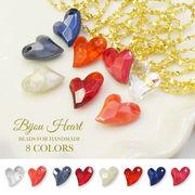 約100粒入り 宝石のような可愛いビーズ【Bijou Heart  -ビジューハート- 全8色】 ピアス ハンドメイド