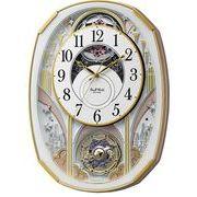 【新品取寄せ品】リズム時計製電波掛時計スモールワールドノエルS 4MN551RH03