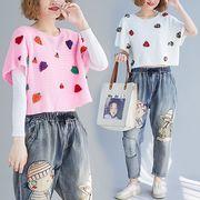 【秋冬新作】ファッションセーター♪ホワイト/ピンク2色展開◆