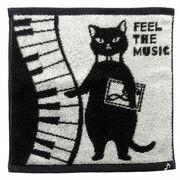 【ネコ/CAT(猫)】今治タオルハンカチ ネコ先生