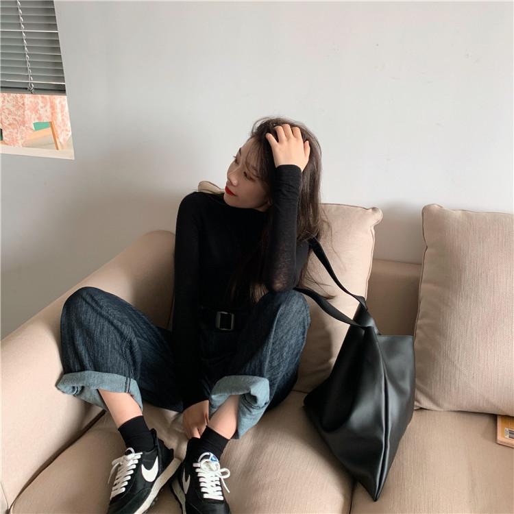 2019 秋冬 新品 韓国ファッション おしゃれな ニット カジュアル スリム 百掛け ニットトップス