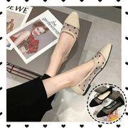 2019秋新入荷韓国ファッション シングルシューズ  フラットシューズ 女性 尖った ワイルド 怠惰な風靴 学生