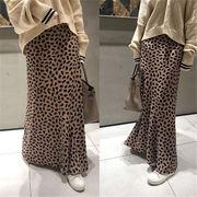 実物画像あり!新作 韓国ファッション  気質 スカート フリル 切り替え バイカラー ハイウエスト シンプル