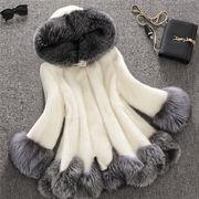 初秋 欲しかったあの商品 韓国 模造毛皮カジュアル コート 中・長セクション スリム キツネの毛皮 百掛け