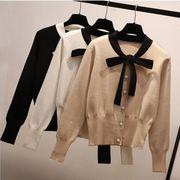 レディース★♪メリヤス長袖の★♪偽のカーディガン★♪秋装★♪ファッション★♪