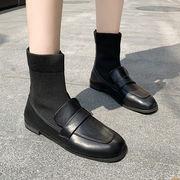 ブーツ 秋と冬 新しいデザイン マーティンブーツ 女性英国スタイル スクエアヘッド アン