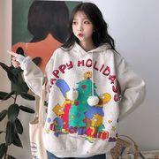 秋冬新作 731516 大きいサイズ 韓国 レディース ファッション  裹起毛  パーカー   LL-4L