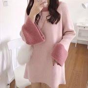 セーターワンピース 韓国ファッション ニットワンピース カジュアル