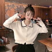 初秋 新しいデザイン 韓国風 ネット レッド ルース 薄いスタイル 長袖セーター 何でも