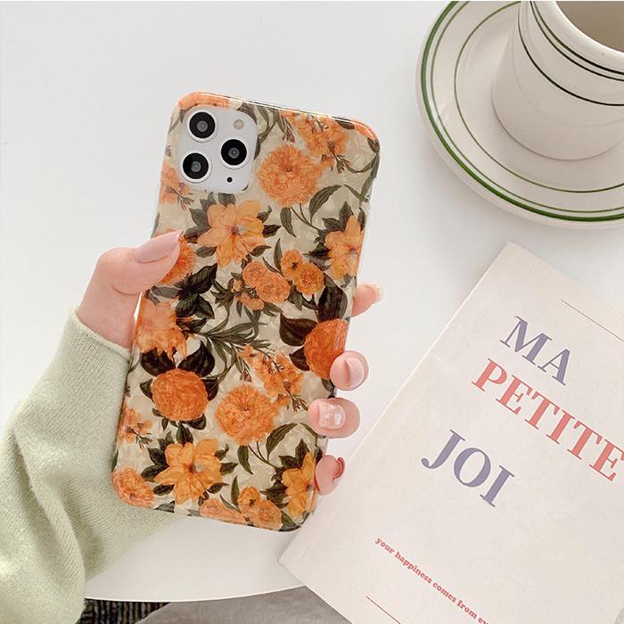 iphoneケース iphone8 iphoneXR xsmax iphone11 Pro Max シェル 花柄