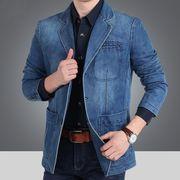 メンズ デニムジャケット ブレザー テーラードジャケット ジージャン紳士服