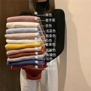 秋冬 新しいデザイン 韓国風 ニット上着 女 ヘッジ 長袖 着やせ 何でも似合う タート