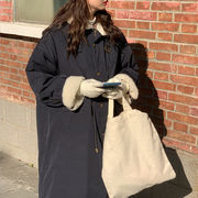 つる 柔らかい 冬 韓国風 ルース アウターウェア 手厚い ツーリング 子羊ウール コッ
