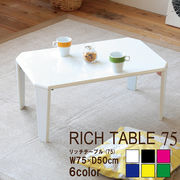 【直送可/送料無料】汚れてもお手入れ簡単!美しい鏡面加工リッチテーブル幅75