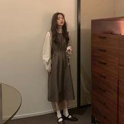 法 タイプ アンティーク調 ワンピース 女 秋服 年 新しいデザイン 韓国風 ルース ハ