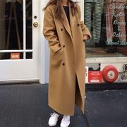 韓国ファッション ロングコート シック スタイル