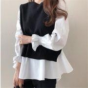 韓国ファッション シャツ カーディガンコーデ