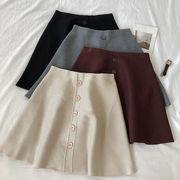 秋冬 新しいデザイン 韓国風 優しい 風 単一色 何でも似合う 着やせ シングル列ボタン