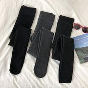 新しいデザイン 冬 韓国風 単一色 トレンカ ストレッチ 靴下付き ゴム入りのウエスト