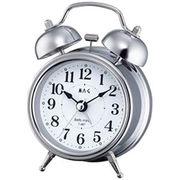 MAG ベル音目覚まし時計「ベルズミニ」(銀)
