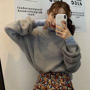 2019 秋冬 新品 韓国 怠惰な風ゆったりするセーター+タートルネックTシャツ+ハイウエストロングスカート