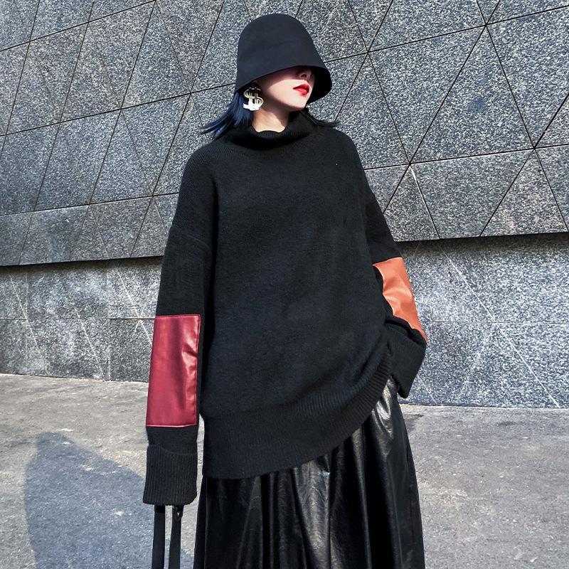 ジャケット ニット タートルネック 無地 セーター 2019秋冬新作 ファッション u15646 レディース