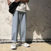 ファッション メンズ デニムズボン ジンズ  ライトブルー