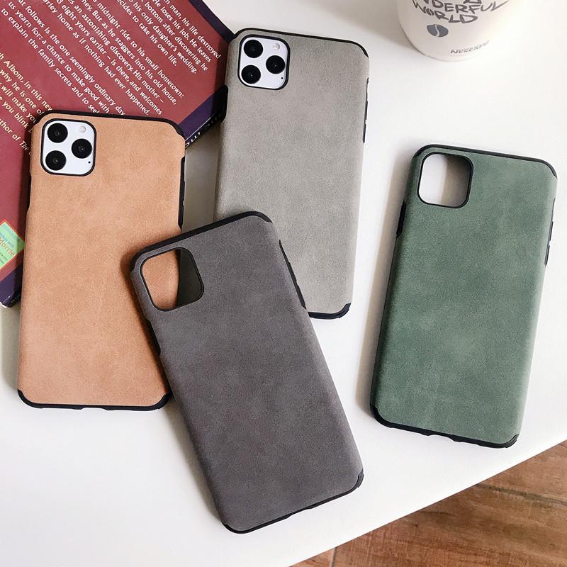 背面iPhone ケース スマホケース レトロ フェイクレザー