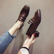 小さな靴 女 春秋 ネット レッド 靴 新しいデザイン 韓国風 英国スタイル 太いヒール
