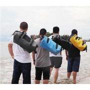 梅雨対策 バックパック 登山 乾式および湿式分離パッケージ スイミングバッグ PVC防水バケットバッグ