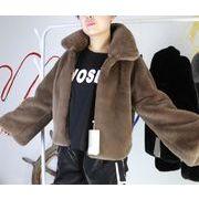 冬 欲しかったあの商品 模造毛皮カジュアル ファーコート キツネの毛皮 百掛け 防寒 通勤 ショートコート