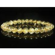現品一点物 ゴールド ルチル ブレスレット 金針水晶 数珠 8ミリ 19g PKR5