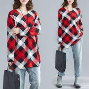 秋冬新作 731792 大きいサイズ 韓国 レディース ファッション  ワンピース  Tシャツ   LL-4L