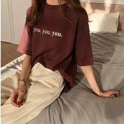 韓国ファッション ハングルセレブ  半袖 Tシャツ