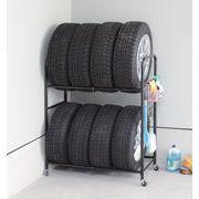 カバー付き タイヤラック タイヤスタンド タイヤ交換