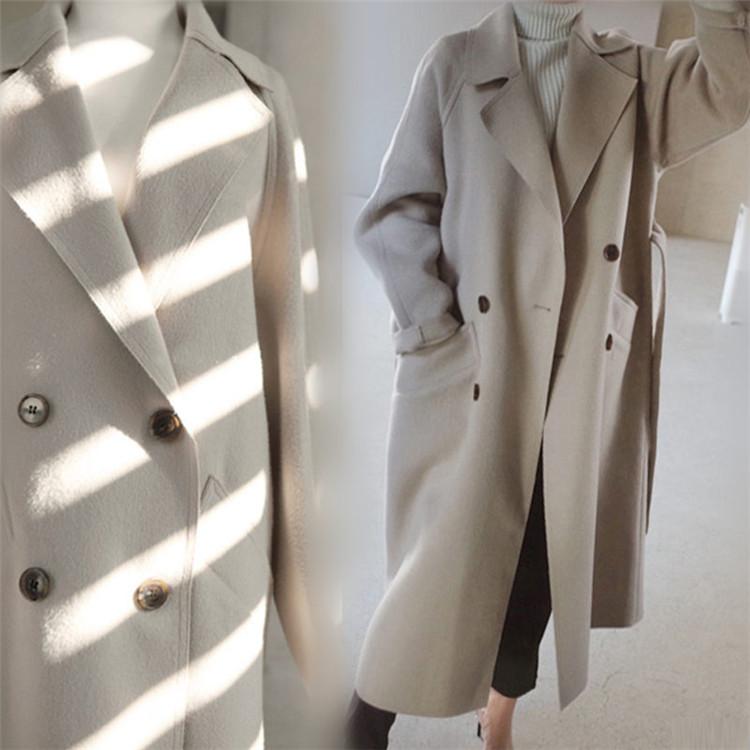 Fashions、2020新品  韓国ファッション  CHIC気質  中・長セクション  ウールコート