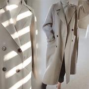 Fashions、2018新品  韓国ファッション  CHIC気質  中・長セクション  ウールコート