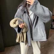 韓国ファッション  もこもこリバーシブルジャケット