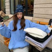 韓国ファッション  オーバーサイズでかわいいサイズ感 カラーパーカー