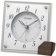 リズム時計 シチズン 置き時計 (掛け時計兼用)(白)