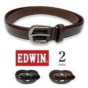 全2色 EDWIN エドウイン リアルレザー プレーンデザイン ベルト