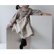 2020春新作アパレル★子供 キッズ服★長袖 ワンピース★キッズファッション★ドレス