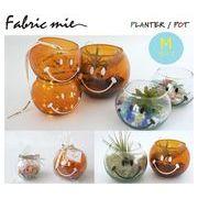 fabric mie(ファブリックミー)/ スマイリーフェイス ガラスポットMサイズ 2色