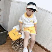 超人気ポロシャツキッズ半袖シャツ半ズボン涼しいカジュアルセット韓国子供服夏服新作