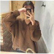 2019秋新作★大人気アパレル   ★女子   Vネックスウェット  セーター 3色 メリヤス上着    ★