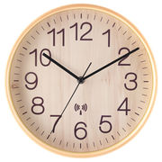 電波掛時計 プライウッド Φ28cm ナチュラル