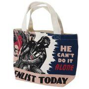 【ランチトート】スターウォーズ マチ付きコットンミニトートバッグ ダースベイダー コミック