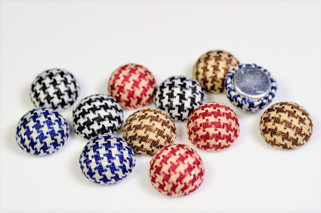 【秋冬アクセサリー】ウールラウンドパーツ ミニサイズくるみボタン 半円ボタンパーツ 7円